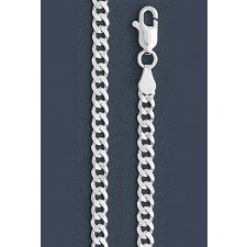 "Curb Chain Necklace- 4.0 mm in Wide- 16"" or 18""/20""/24""/26""/28""/30"" in Length"