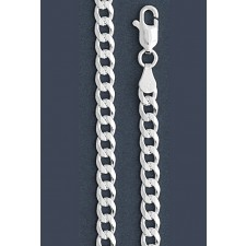 """Curb Chain Necklace- 5.0 mm in Wide- 16"""" or 18""""/20""""/22""""//24/""""30"""" in Length"""