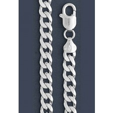 "Curb Chain Necklace- 7.0 mm in Wide- 18"" or 20""/22""//24/""26"" /28""in Length"