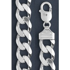 "Curb Chain Necklace- 12.0 mm in Wide- 20 or 22""/24/30"" in Length"