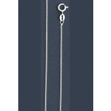 "Curb Chain Necklace- 1 mm in Wide- 16"" or 18""/20""/24"" in Length"