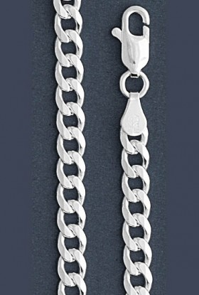 "Curb Chain Necklace- 6.0 mm in Wide- 16"" or 18""/20""/22""//24/""30"" in Length"
