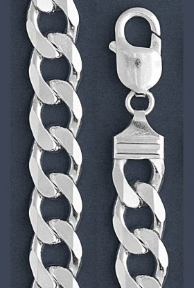 "Curb Chain Necklace- 11.0 mm in Wide- 18"" or 20""/22""/24/30""in Length"