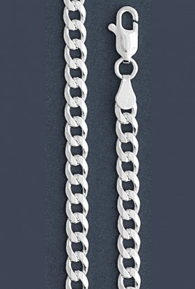 "Curb Chain Necklace- 5.0 mm in Wide- 16"" or 18""/20""/22""//24/""30"" in Length"
