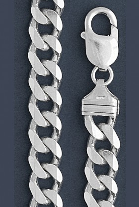 "Curb Chain Necklace- 9.0 mm in Wide- 18"" or 20""/22""/24/""26"" /28""in Length"
