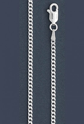 "Curb Chain Necklace- 2.0 mm in Wide- 16 or 18""/20""/24"" in Length"